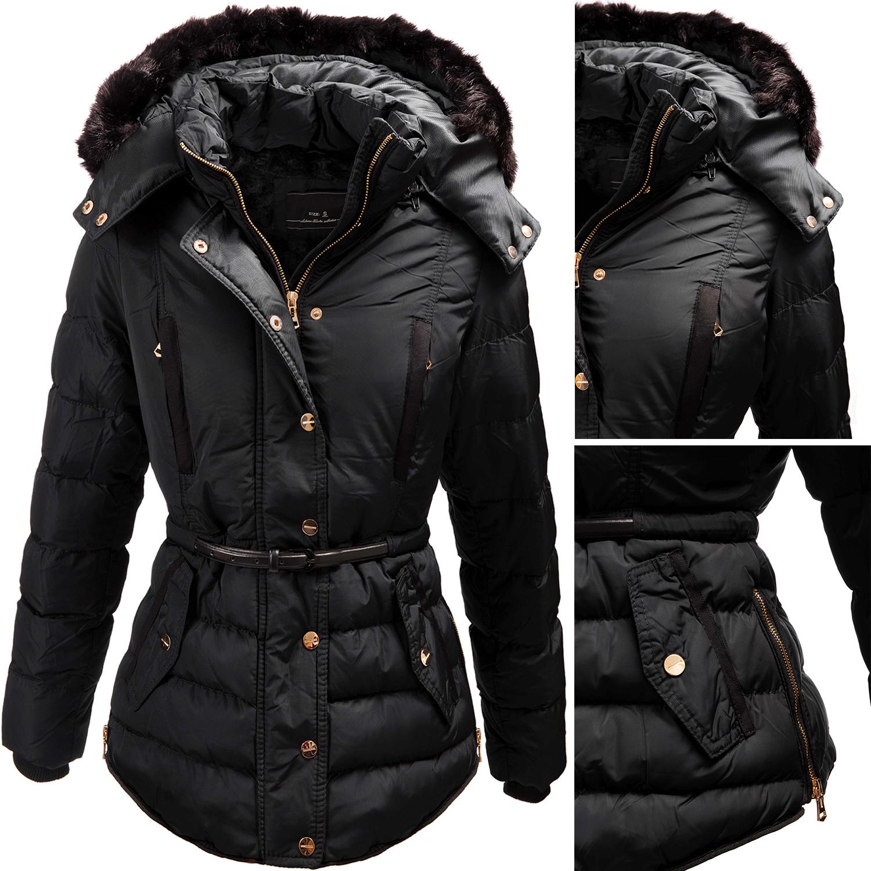 gef tterte damen winterjacke jacke mantel damenjacke. Black Bedroom Furniture Sets. Home Design Ideas