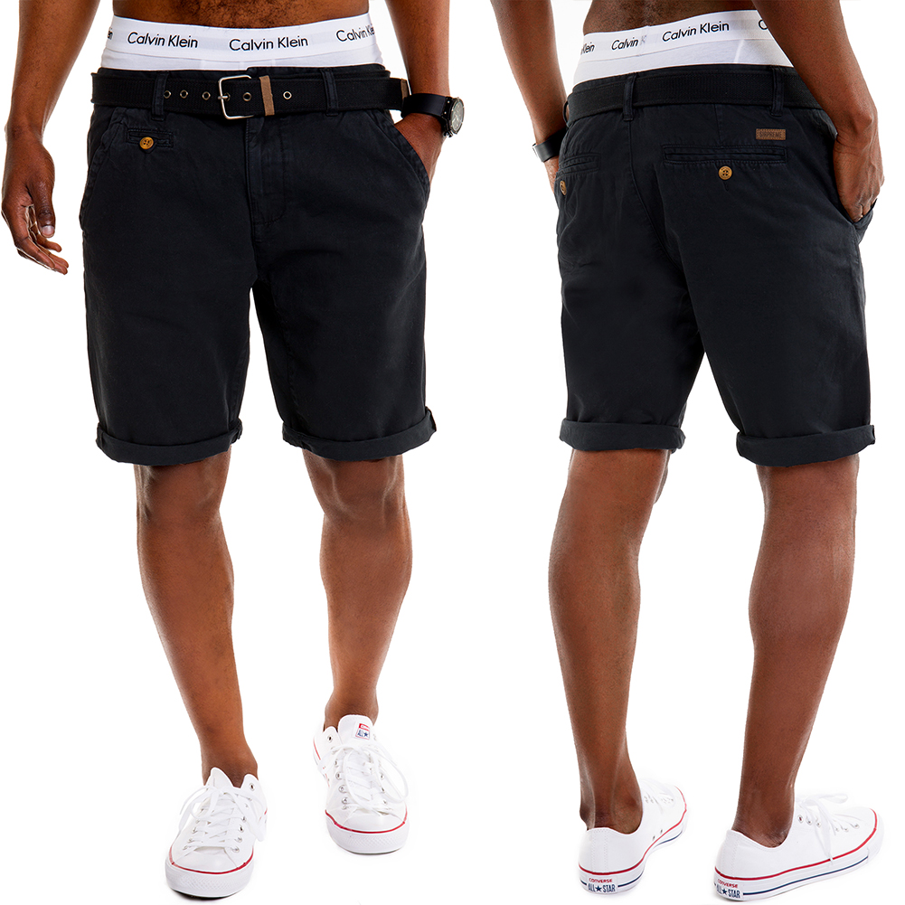 cuba herren chino shorts g rtel cargo jeans kurze hosen. Black Bedroom Furniture Sets. Home Design Ideas