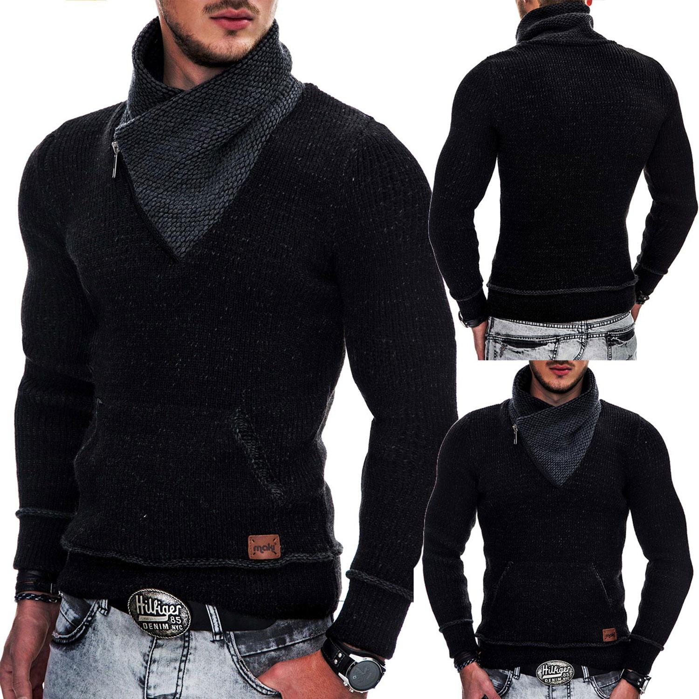 indicode herren winter strick pullover kapuze strickjacke. Black Bedroom Furniture Sets. Home Design Ideas